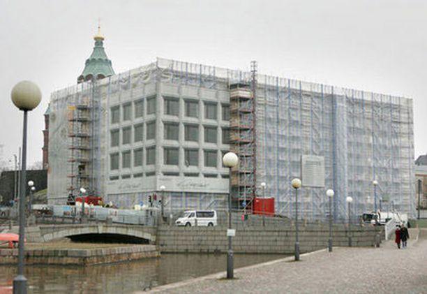 Stora Enson pääkonttorirakennus oli vielä alkuvuonna pressujen peitossa.