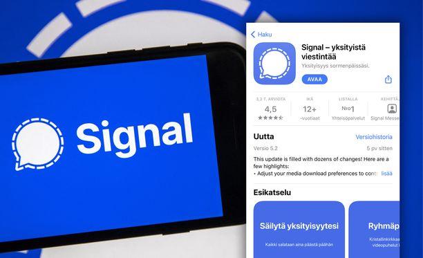 Signal-viestipalvelu on noussut nopeasti ladatuimmaksi viestipalveluksi.