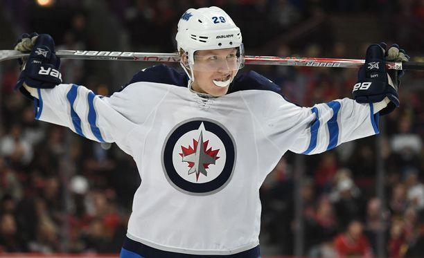 Winnipeg Jetsin Patrik Laine on yksi ehdokas NHL:n vuoden tulokkaaksi.