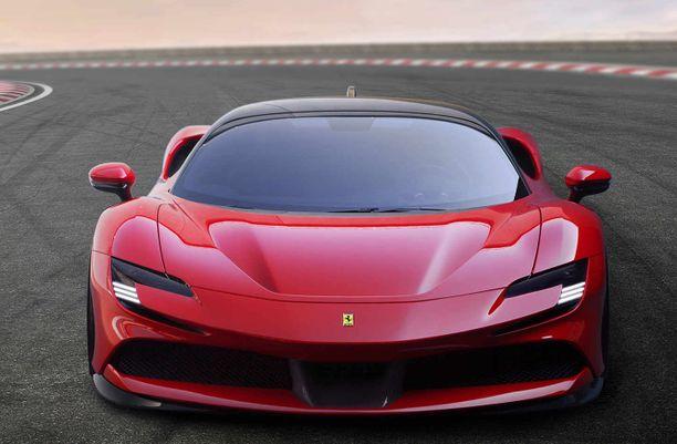 Uutuus-Ferrari hymyilee salaperäisesti.