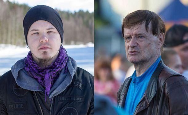 Kuvassa Eetu Pesu ja hänen isosentänsä Jorma Hirvonen, joka joutui rajun some-kiusaamisen kohteeksi.