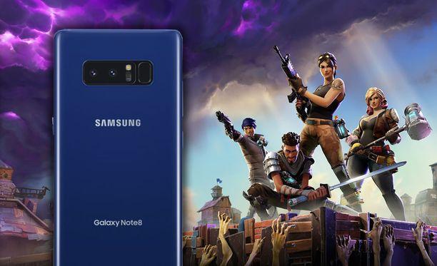 Fortnite saapuu Samsungille yksinoikeudella (kuvassa Galaxy Note 8). Kuvituskuva.