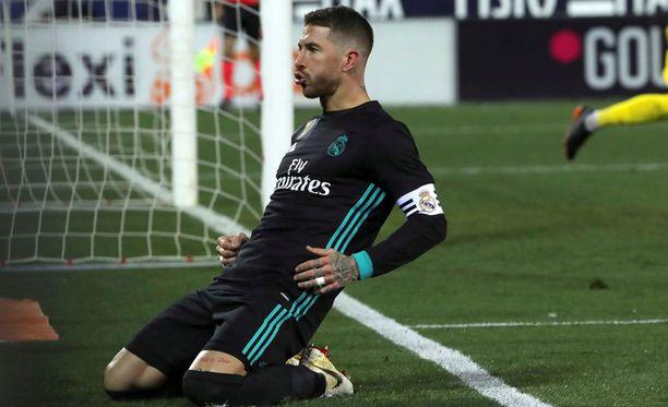 Real-kippari Sergio Ramos pääsi laukomaan Leganesia vastaan 3-1-loppulukemat pilkulta.