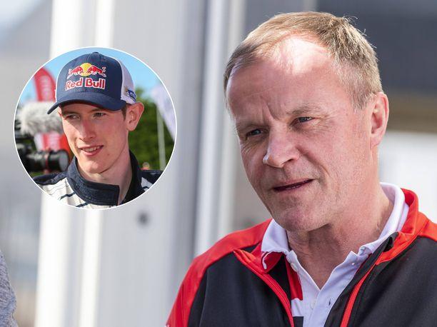Elfyn Evansia on huhuiltu Tommi Mäkisen johtamaan Toyota-rallitalliin.