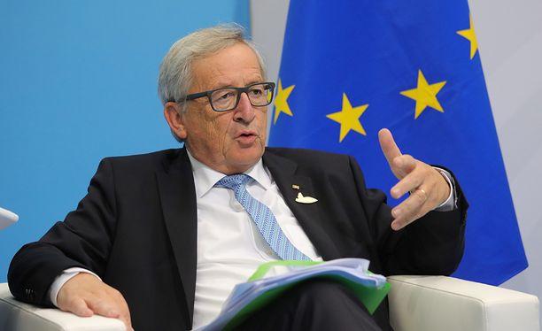 Jean-Claude Juncker pitää vuosittaisen puheensa.