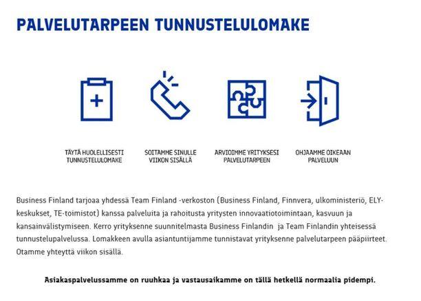 Vuoden alussa aloittaneen Business Finlandin asiakaspalvelussa on tällä hetkellä ruuhkaa.