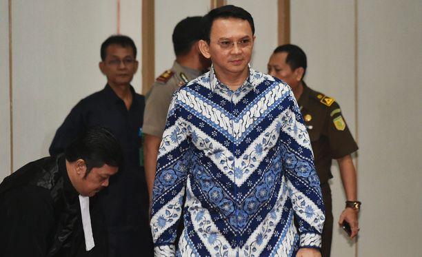 Jakartan kristitty kuvernööri Basuki Tjahaja Purnama sai vankeustuomion jumalanpilkasta.