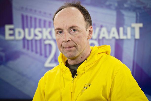 Perussuomalaisten puheenjohtaja Jussi Halla-aho piti lauantaina linjapuheen puoluevaltuuston kokouksessa Helsingissä.