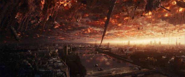 Maapalloa tuhotaan jälleen kerran elokuvassa Independence Day: Uusi uhka.
