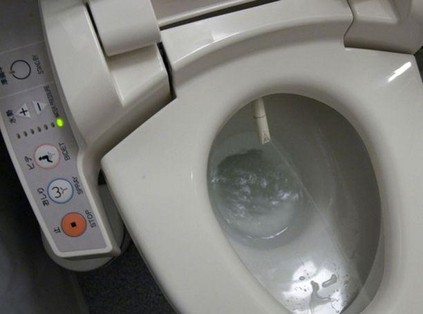 Vessa, joka vetää itsensä etukäteen. Kaikkea se japanilainen keksii.