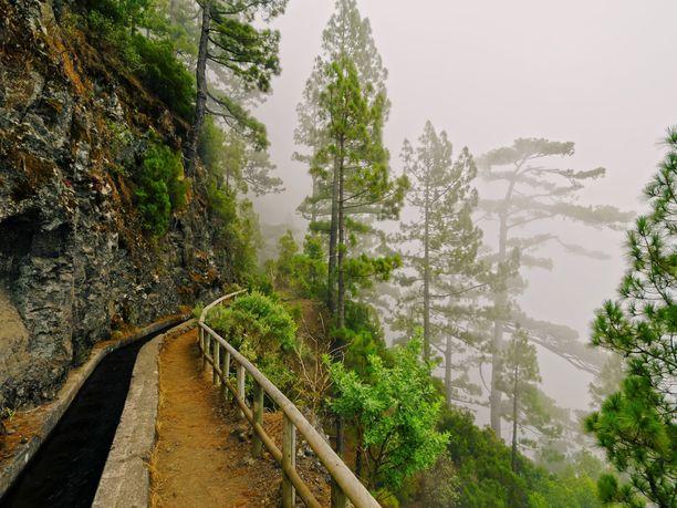 La Palmalta löytyy satoja kilometrejä vaellusreittejä henkeäsalpaavissa maisemissa.