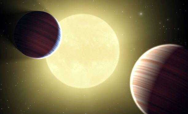 Nasan Kepler-avaruusteleskooppi etsii kaukaisia tähtiä kiertäviä planeettoja. Kuvassa taiteilijan näkemys vieraasta aurinkokunnasta.