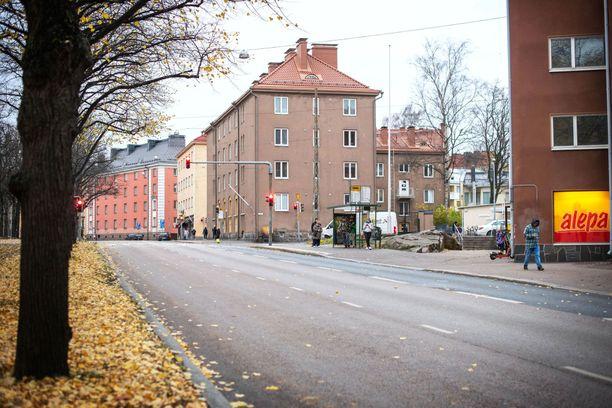 Henkirikos tapahtui tällä paikalla Helsingin Vallilassa.