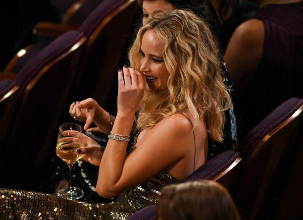 Oscar-voittaja taisi olla juhlatuulella.