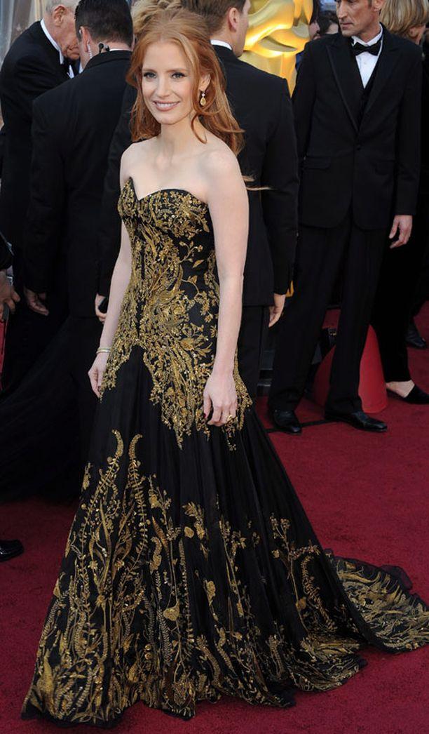 Jessica Chastain on ehdolla parhaan naissivuosan saajaksi elokuvasta Piiat.