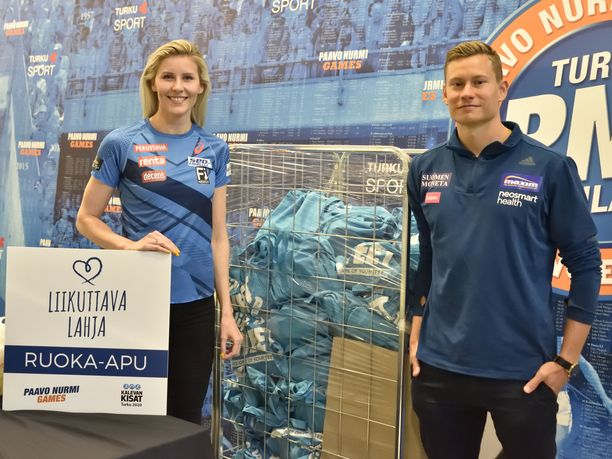 Kolmiloikkaaja Kristiina Mäkelä ja aitajuoksija Oskari Mörö kertoivat kauden päätähtäimien olevan Turussa.