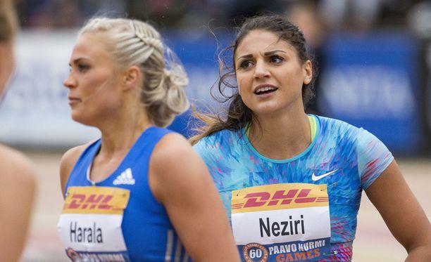 Nooralotta Neziri oli kuudes tiistaina Paavo Nurmi Gamesissa 100 metrin aidoissa.