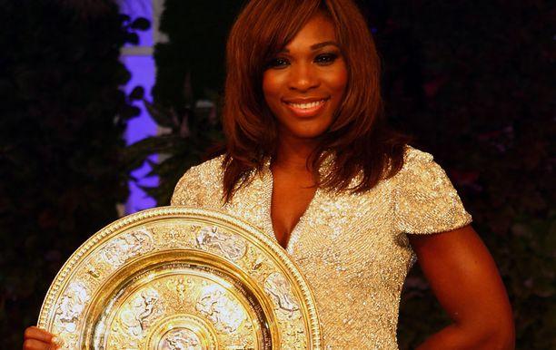 Serena Williams juhli kesällä Wimbledonissa.