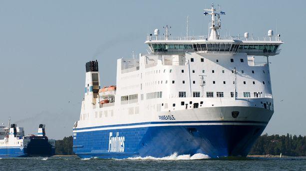 MS Finneagle liikennöi Naantalista Ruotsin Kapellskäriin.