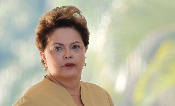 Välierätappio koetteli myös Dilma Rousseffin sietokykyä.