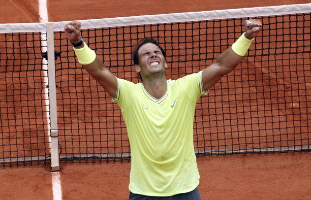 Rafael Nadal on Ranskan avoimen tennisturnauksen ylivoimainen valtias.