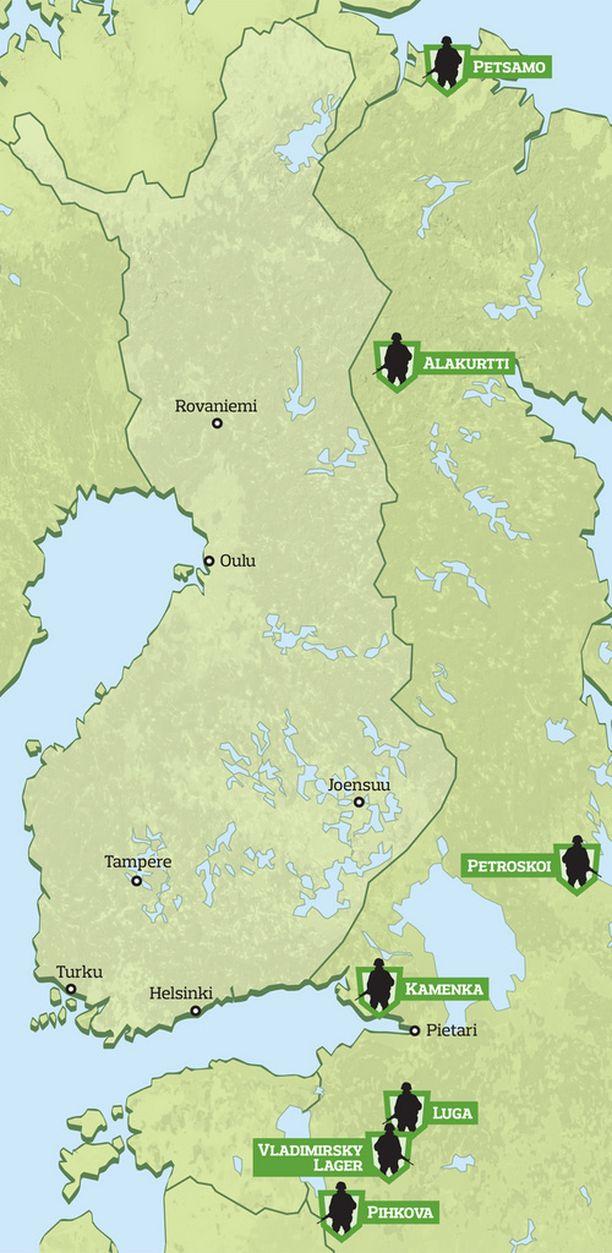 Katso Kartta Nain Venajan Sotajoukot Sijoittuvat Itarajan Tuntumassa