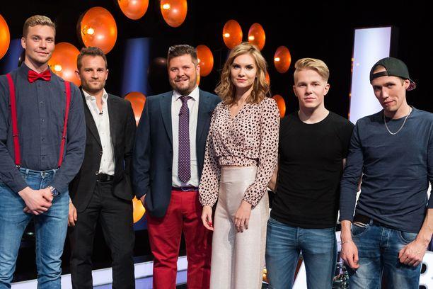 Herra A, Lenni-Kalle Taipale, Janne Kataja, neiti X Olivia ja herrat B ja C nähdään illan Napakympissä.