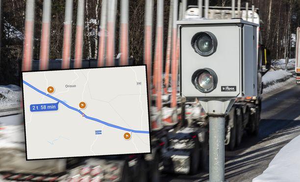 Google Maps kertoo nyt myös nopeuskameroiden paikat.