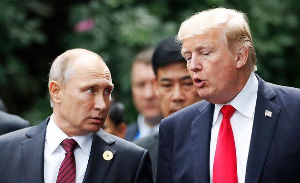 Trump ja Putin tapasivat viimeksi Vietnamissa viime vuoden marraskuussa.