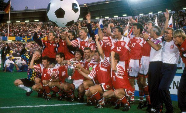 Tanska juhli historiallista mestaruutta kesällä 1992.