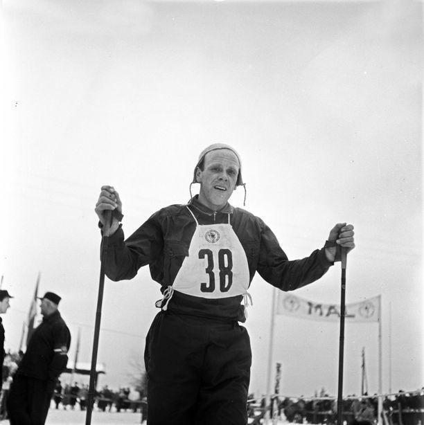 Håkon Brusveen voitti kaksi olympiamitalia. Kuva on vuodelta 1952.