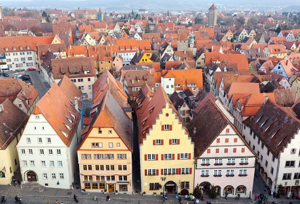 Rothenburg ob der Tauberin kaupunki toimi mallina Pinokkio-piirretyn taustoille.