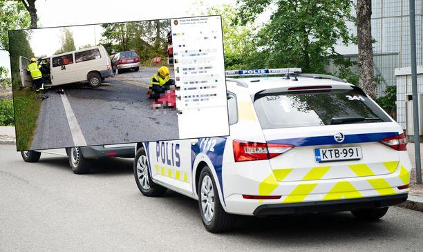 Thaimaan Helsingin suurlähetystö julkaisi kuvia, jotka oli otettu juuri onnettomuuden jälkeen.