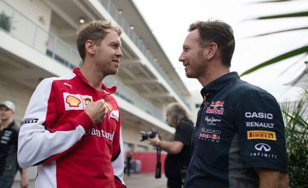Sebastian Vettel ja Christian Horner tuntevat toisensa hyvin Vettelin Red Bull -ajoilta.
