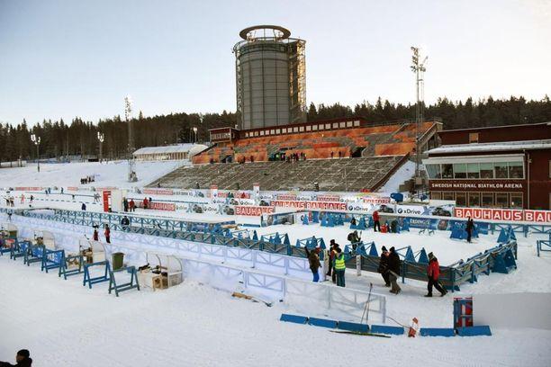Östersundissa on kaunis talvipäivä. Pakkasta oli kuvaushetkellä miinus kuusi astetta.