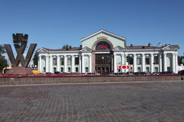 Viipurin nykyinen rautatieasema on rakennettu neuvostoaikoina.