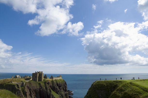 Dunnottar Castle, jossa Skotlannin epäonninen kuningatar Maria Stuartkin on majaillut.