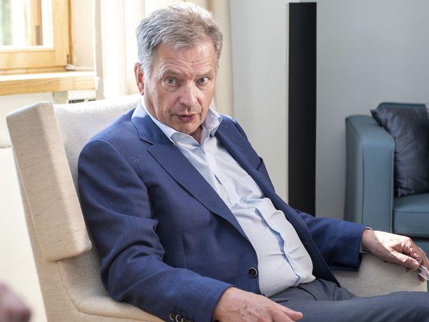 Tasavallan presidentti Sauli Niinistön mukaan vaalitaistelu on ollut yllättävänkin tasainen.