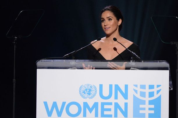 Meghan puhui YK:n naisten konferenssissa vuonna 2015.