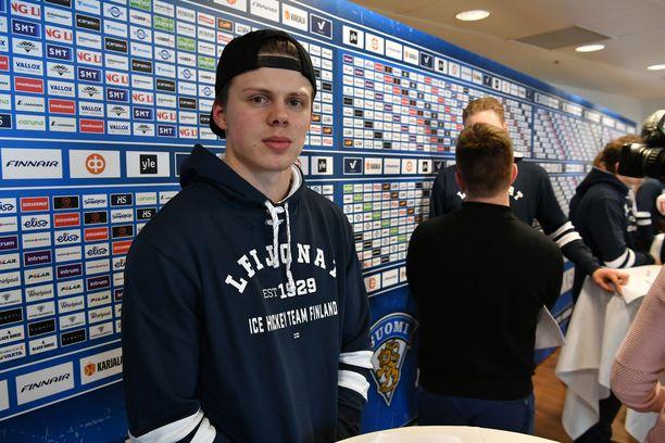 Kasperi Kapanen debytoi A-maajoukkueessa Tanskan MM-kisoissa.