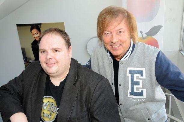 Ystävyys on säilynyt. Riku Räsänen ja Danny kuvattuna vuonna 2011.
