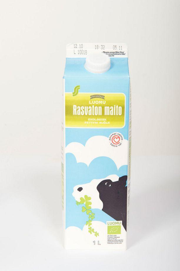 Rainbow ja Pirkka -merkeillä on myös omaa maitoa.