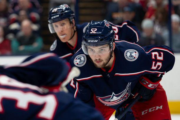 Emil Bemströmillä on takanaan NHL-tulokaskausi Columbus Blue Jacketsin riveissä.