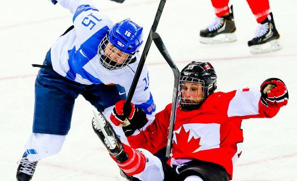 Minnamari Tuominen (kuvassa) uskoo Kanadan olevan kaadettavissa.