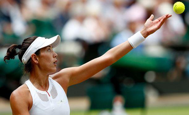 Garbine Muguruza eteni Wimbledonin finaaliin.