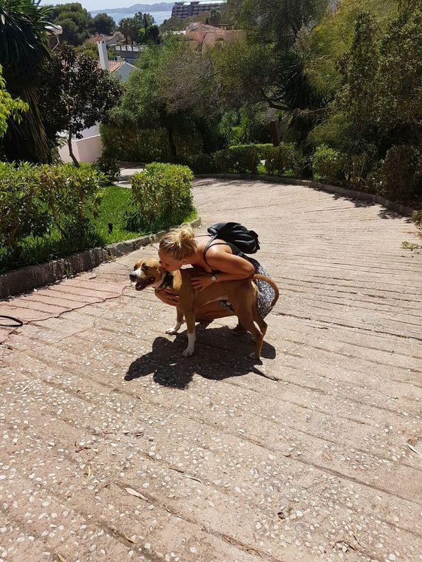 Emilia Tuukkasen mukaan Culo on sosiaalinen ja ihmisrakas koira.