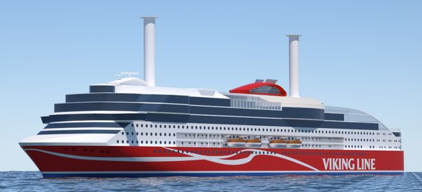Viking Linen uutta matkustaja-alusta rakennetaan parhaillaan kiinalaistelakalla. Siihen oli määrä tulla kaksi roottoripurjetta.