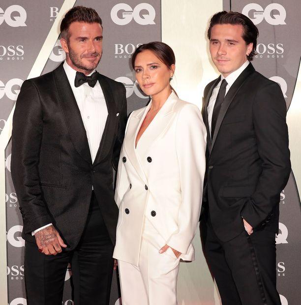 David, Victoria ja Brooklyn Beckham juhlivat syyskuussa yhdessä GQ Men of the Year Awards -gaalassa.