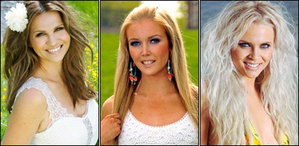 Pistääkö hallitseva Miss Suomi Essi Pöysti kampoihin Janinalle ja Susannalle? Katso kuvagalleriasta myös muut ehdokkaat ennen äänestämistä.