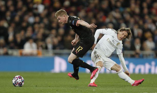 Kevin De Bruyne valittiin ottelun parhaaksi pelaajaksi, kun Manchester City haki 1-2-vierasvoiton Santiago Bernabéulta helmikuun lopussa.